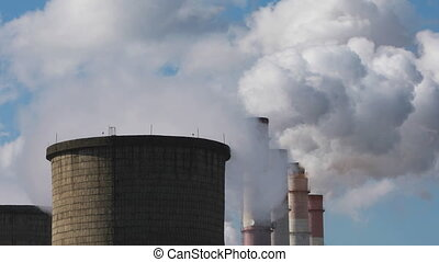 Pollution of the environment: a pipes with smoke - Air ...