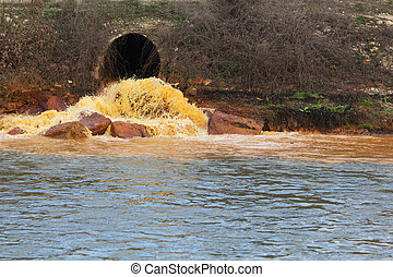 Pollution of Water. Chemical and Biological Contamination....