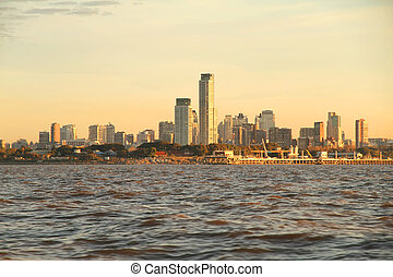 Pollution over Buenos Aires - Pollution over the skyline of...