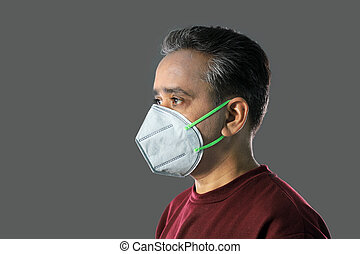 pollution, smog, virus, indien, protection, n95, contre, ...