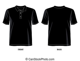 design vector t shirt template collection for t shirt men with color black