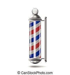polo, barbiere, isolato