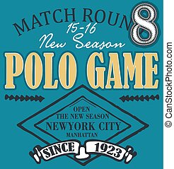 Polo club design set vector