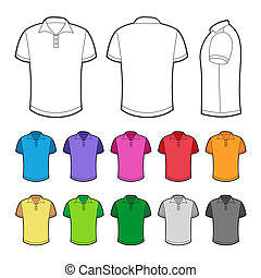 Polo in various colors. Vector Illustration on white...