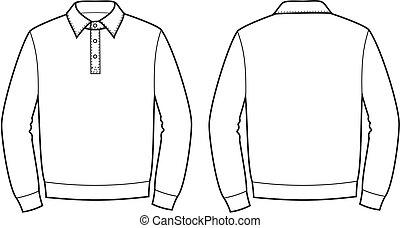 Polo jumper - Vector illustration of men's polo jumper....