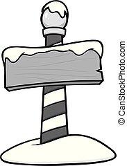 polo, nord, palo, illustrazione, segno