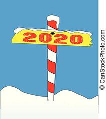 polo norte, 2020, señal