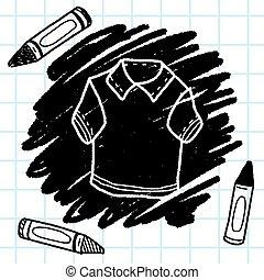 polo, scarabocchiare, camicia