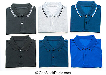 Polo shirt - Men polo shirt isolated on white background