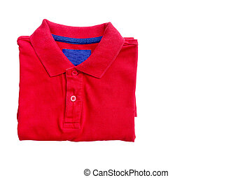 polo shirt - Polo shirt close up isolated on white...