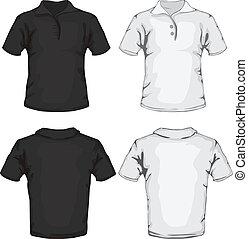 polo shirt template design