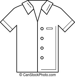 Boy wearing a polo shirt on white background Vector Image