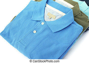 Polo shirts - Colorful polo shirts isolated on white...