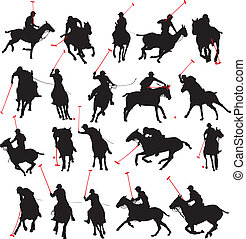 polo speler, silhouette, details, 20