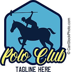 polo sport logo with text space for your slogan