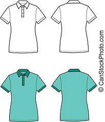 Polo t-shirt - Vector illustration of women's polo t-shirt....