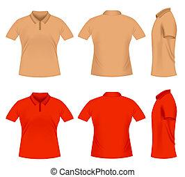 Polo t-shirts - Realistic men\'s polo t-shirts