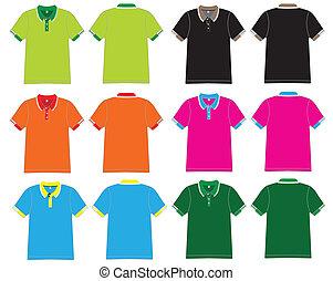 polo, vecteur, conception, chemise, gabarit