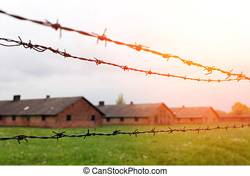 pologne, camp, méridional, birkenau, concentration