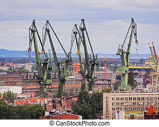 pologne, chantier naval, gdansk