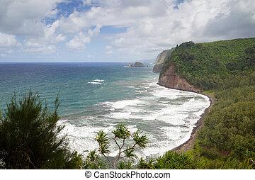 Pololu Valley, Big Island, Hawaii - View on the north coast...