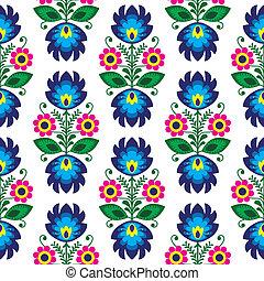 polonais, seamless, traditionnel, floral