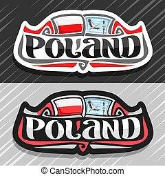 polonia, logotipo, vector