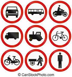 polonia, prohibición, señales