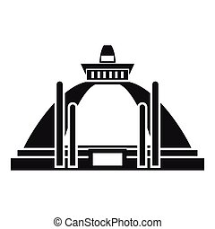 Polonnaruwa, ancient stupa icon, simple style - Polonnaruwa,...