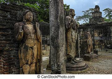 Polonnaruwa in Sri Lanka. - Hatadage Monument, built by ...