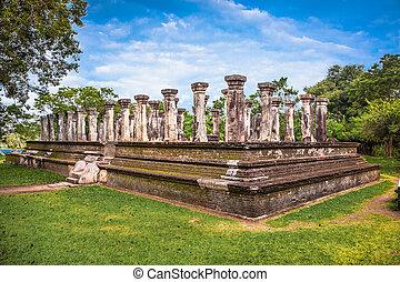 polonnaruwa, palast, koenig, komplex, nissankamalia, sri ...