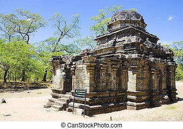 polonnaruwa, sri, siva, devale, temple, lanka