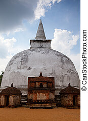 Polonnaruwa - the ruins of an ancient temple, Sri Lanka.