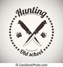 polowanie, emblemat