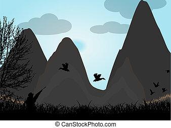 polowanie, kaczka