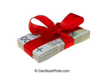 polska, gåva, pengar