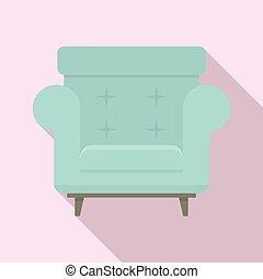 poltrona, ícone, apartamento, estilo