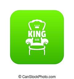 poltrona, reale, verde, icona