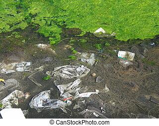 poluição água