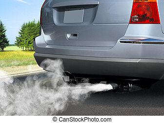 poluição, de, meio ambiente