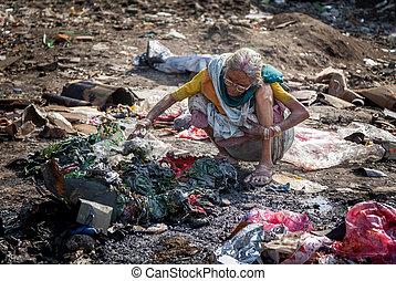 poluição, e, miséria