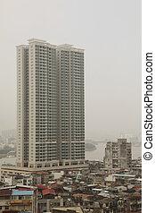 poluição, em, china