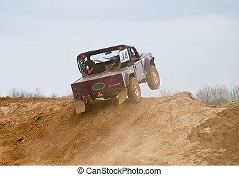 polvere, rally, 4x4