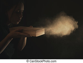 polvere, soffiando, spento, bibbia