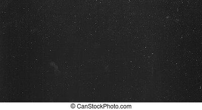 polvere, sopra, sfondo nero