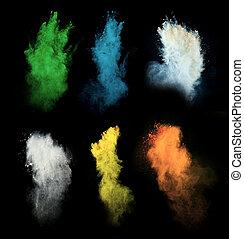 polvo, coloreado