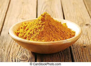 polvo de curry, montón