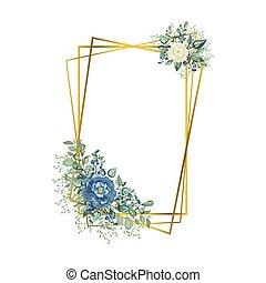 polyèdre, fleurs, géométrique