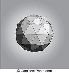 polyèdre, fond, résumé