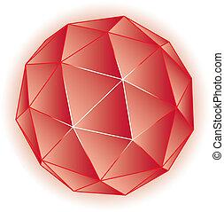polyèdre, vecteur